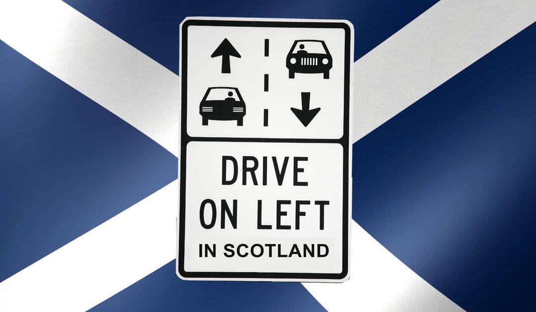 En Escocia se conducirá por la derecha.