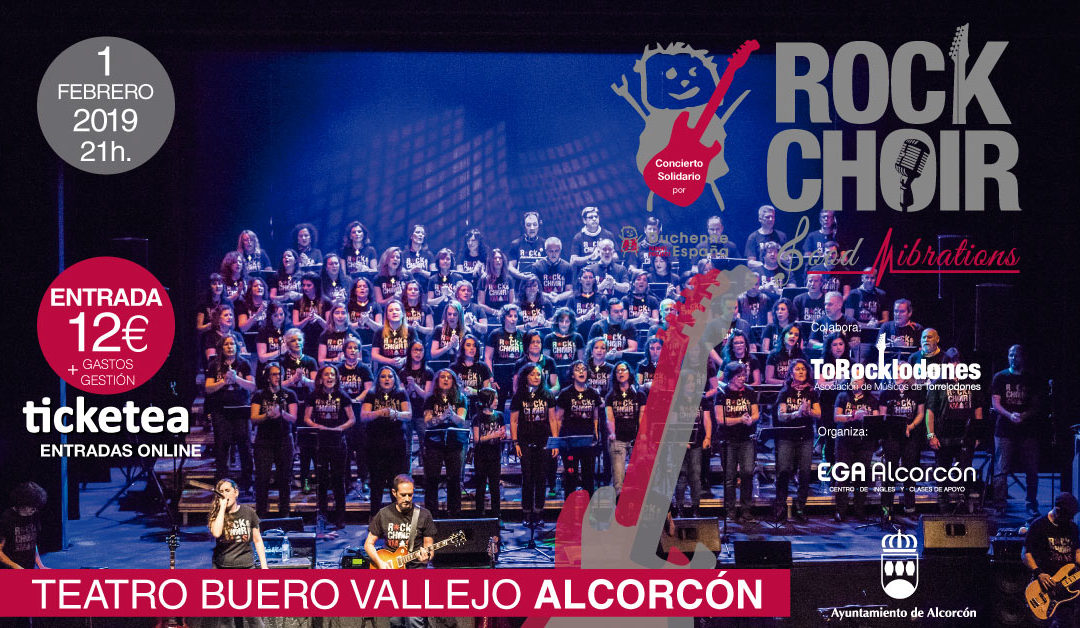 Concierto solidario Rock Choir «Good Vibrations» en Alcorcón